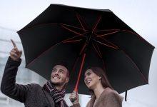 Decouverte Parapluie Plemo Rouge Et Noir Grand (1)