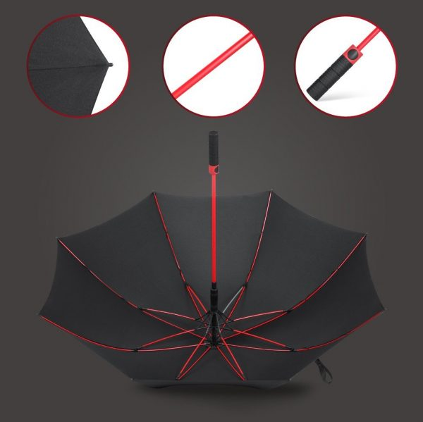 Decouverte Parapluie Plemo Rouge Et Noir Grand (4)
