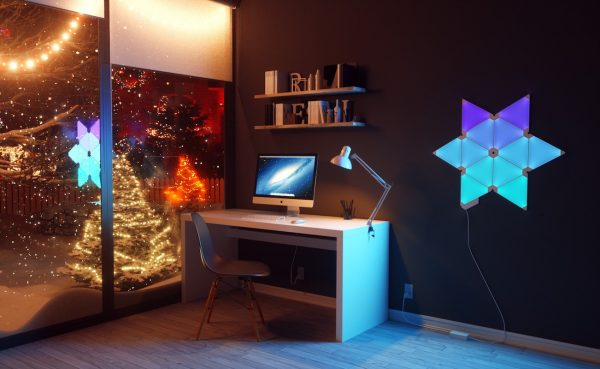 Decouverte Pack Led Nanoleaf Aurora Smart Panels (4)