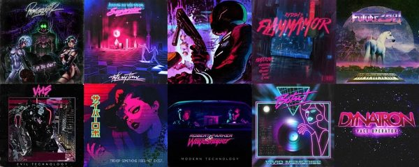 Synthwave Pochettes Albums