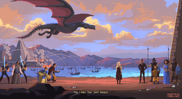 Gustavo Viselner Pixel Art Game Of Thrones (1)