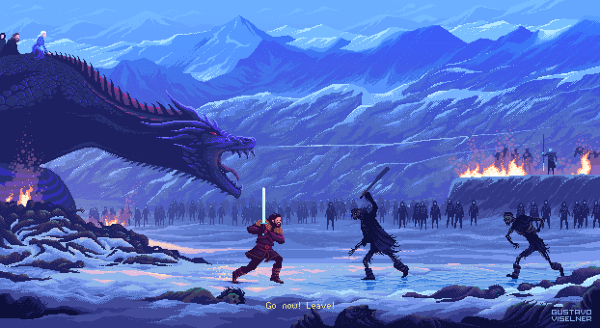 Gustavo Viselner Pixel Art Game Of Thrones (2)