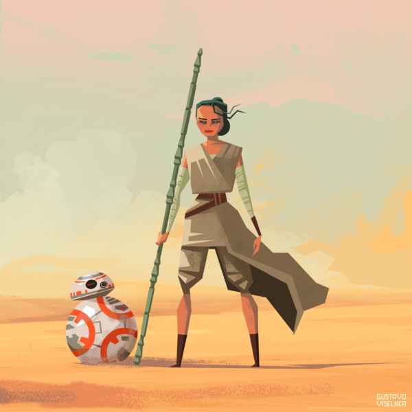 Gustavo Viselner Pixel Art Star Wars Bb8