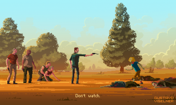 Gustavo Viselner Pixel Art The Walking Dead
