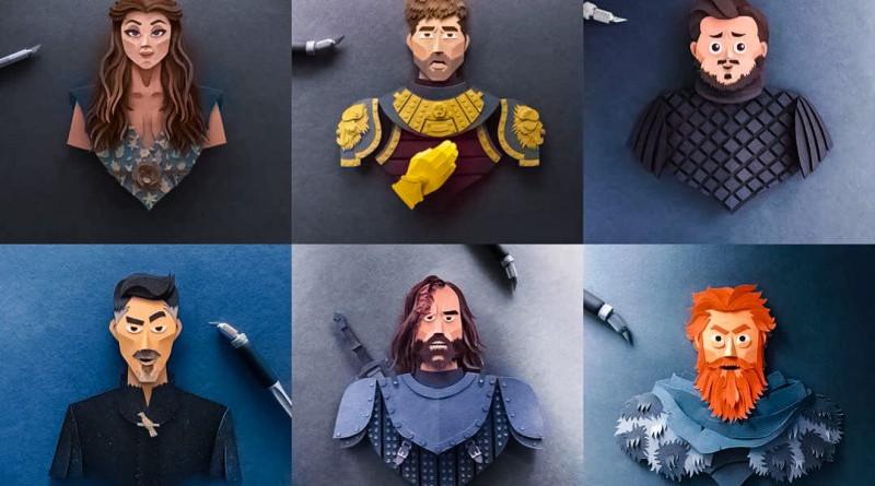 Robbin Gregorio Game Of Thrones Paper Cuts