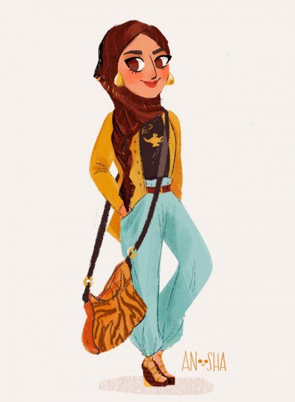 Princesses Disney Style Urbain Anoosha Syed (8)